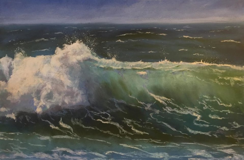 Image: Ocean's Power | Pastel | 11