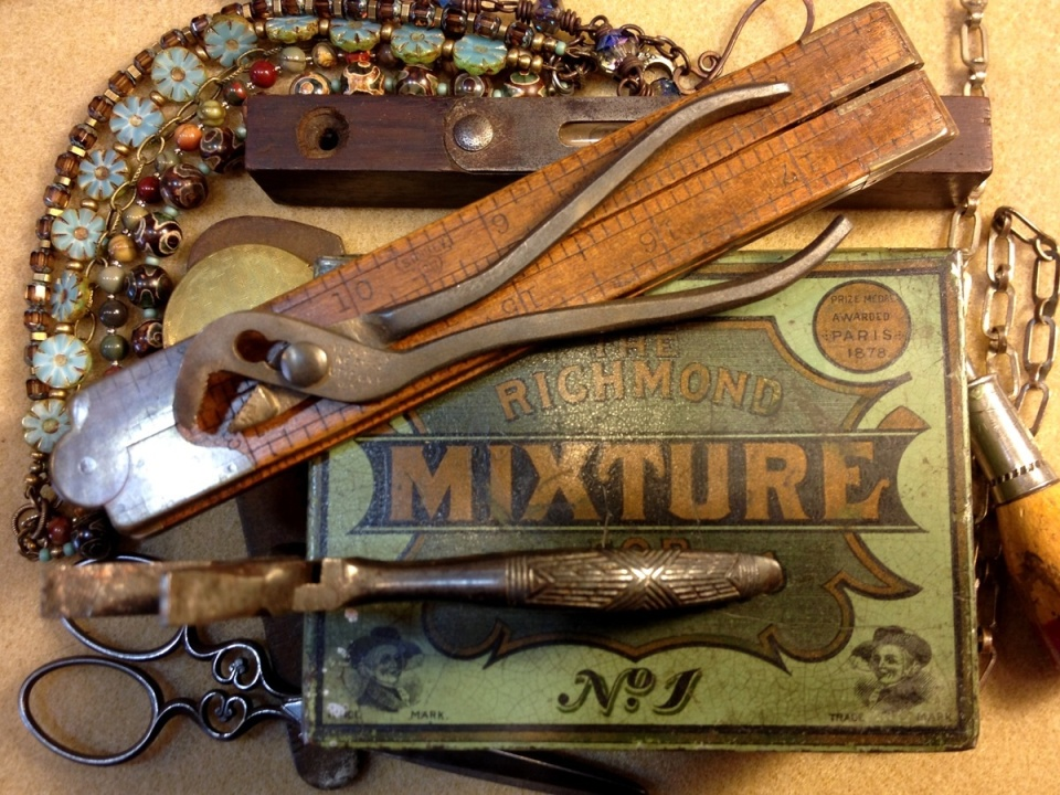 One of Maria's favorite tools—antique channel locking pliers