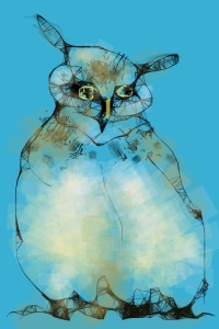 Owl, iPhone Art by Ken Wagle