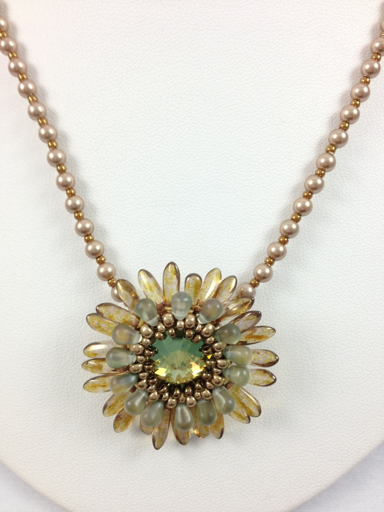 Flower Rivoli Pendant Necklace