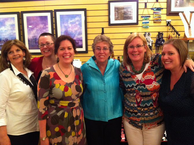 Paula organized a benefit for Hekima Place in APRIL 2012.  Pictured left to right: Karen Wolowski, Kate Wagle Hitmar, Paula Nettleship, Hekima founder Kate Fletcher, Kate McGrady, and Samantha Bower.
