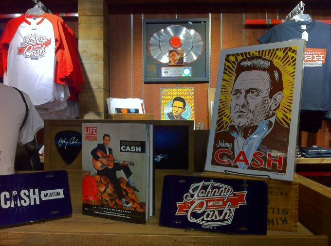 Jim's Johnny Cash at the Johnny Cash Museum gift shop in Nashville, Tennessee.