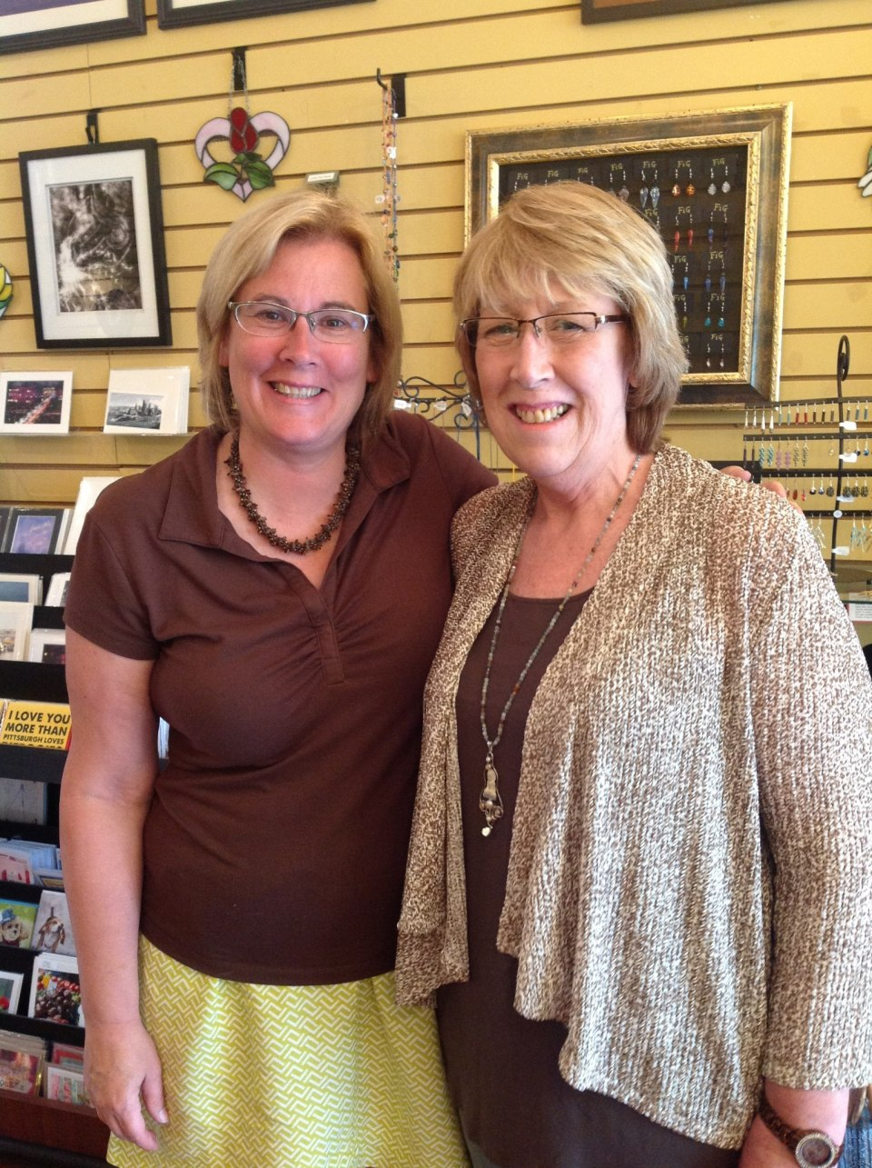 Koolkat owner, Kate McGrady with Sewickley-based jewelry artist, Judi Erno of Urban Baroque