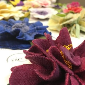 We just received a batch of beautiful Spring Proddy Flower Pins by local fiber artist Nan Loncharich | Fancy Wool Flowers! 🌺 Take one of Nan's classes this Spring at The Artsmiths and also at the Pittsburgh Knit & Crochet Festival this coming April.  #pittsburgh #pgh #pghart #fiberart #fiber #wool #proddy #flowers #brooches #victorian