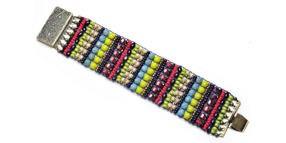 CLASS DESCRIPTION  This is part three of Olga's Beading Techniques Fall 2017 six-part series. You can enroll in one class or all six to become a true beader.  Learn the basics of bead weaving on a loom to make a cool southwestern style bracelet. INSTRUCTOR  Bulgarian native, Olga Mihaylova | Oli's Beadwork is a prominant jewelry designer in Pittsburgh and throughout the region.  She is a member of the Pittsburgh Craftsmen's Guild and recipient of many awards for her intricate techniques and unusual designs.   SKILL LEVEL  Beginner COST  $40  +  MATERIAL FEE  $35  +  LOOM DEPOSIT $30